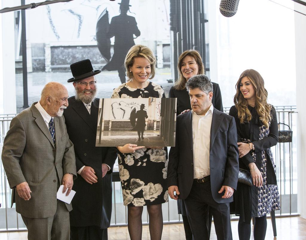 Bezoek Koningin Mathilde aan Kazerne Dossin (c) Guy Kleinblatt
